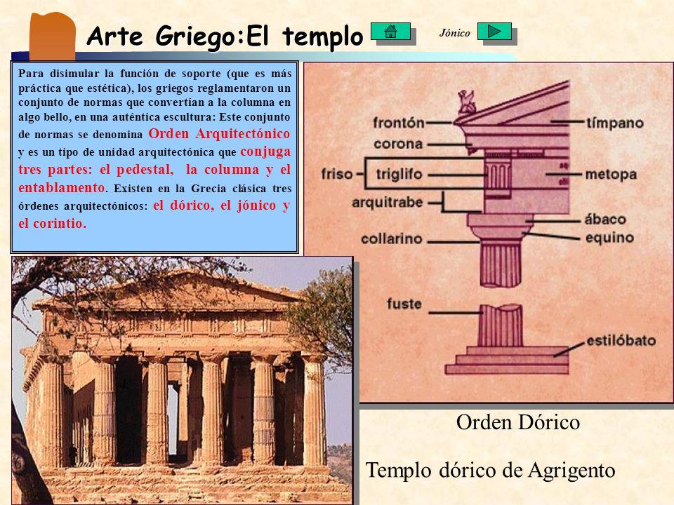 Arte Griego:El templo Orden Dórico Templo dórico de Agrigento