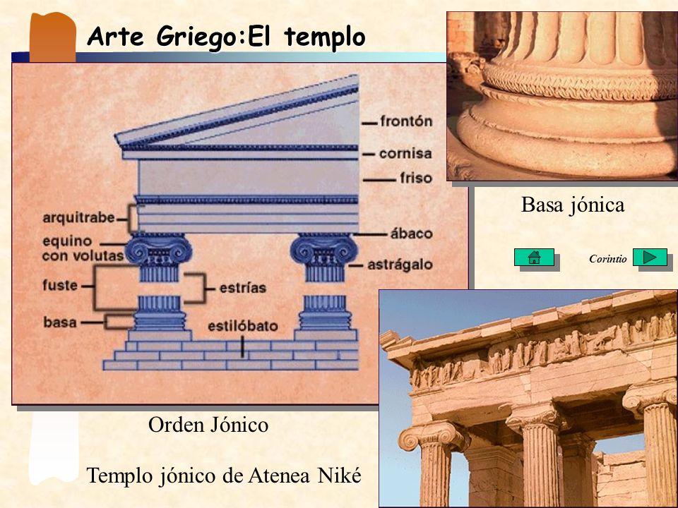 Arte Griego:El templo Basa jónica Orden Jónico