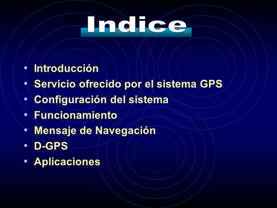 Indice Introducción Servicio ofrecido por el sistema GPS