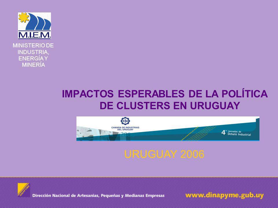 IMPACTOS ESPERABLES DE LA POLÍTICA DE CLUSTERS EN URUGUAY
