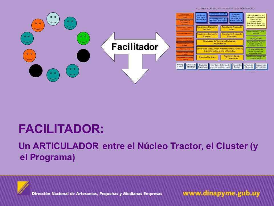 Un ARTICULADOR entre el Núcleo Tractor, el Cluster (y el Programa)