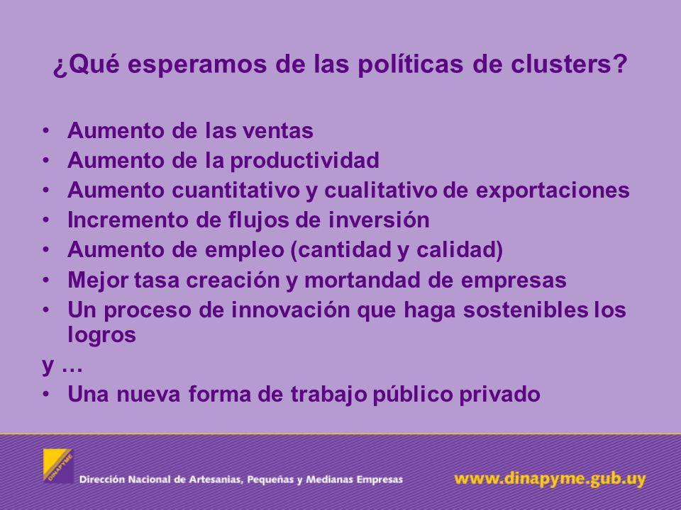 ¿Qué esperamos de las políticas de clusters