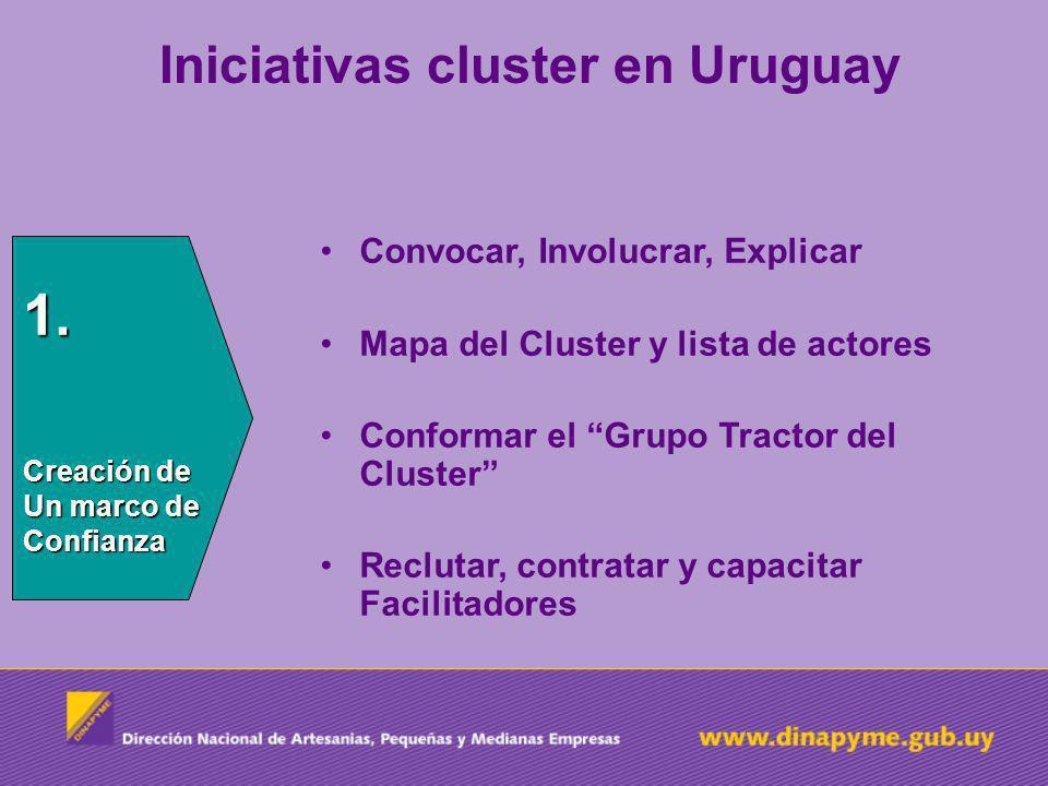 1. Iniciativas cluster en Uruguay Convocar, Involucrar, Explicar