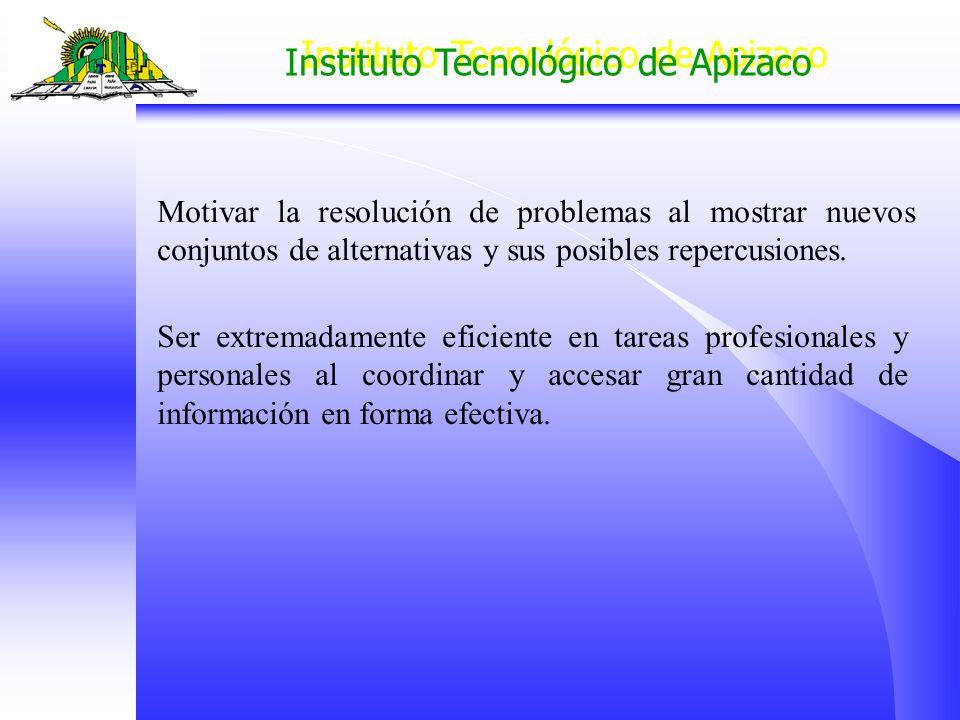 Motivar la resolución de problemas al mostrar nuevos conjuntos de alternativas y sus posibles repercusiones.