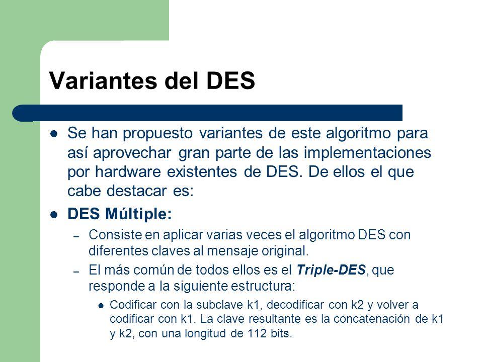 Variantes del DES