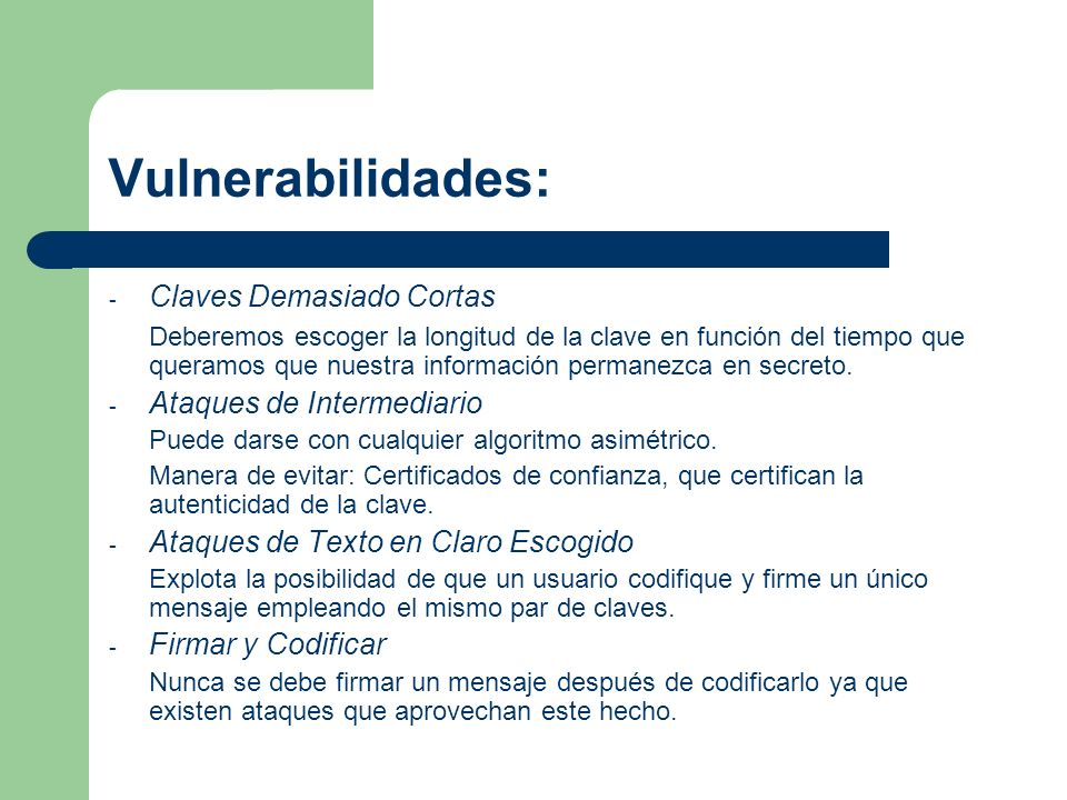 Vulnerabilidades: Claves Demasiado Cortas