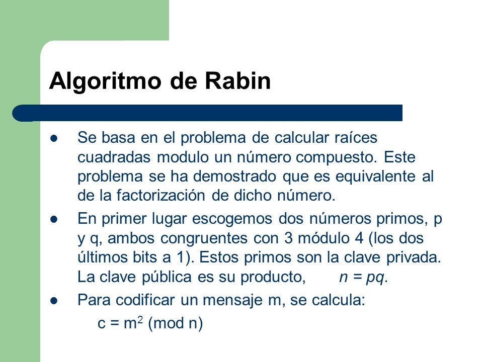 Algoritmo de Rabin