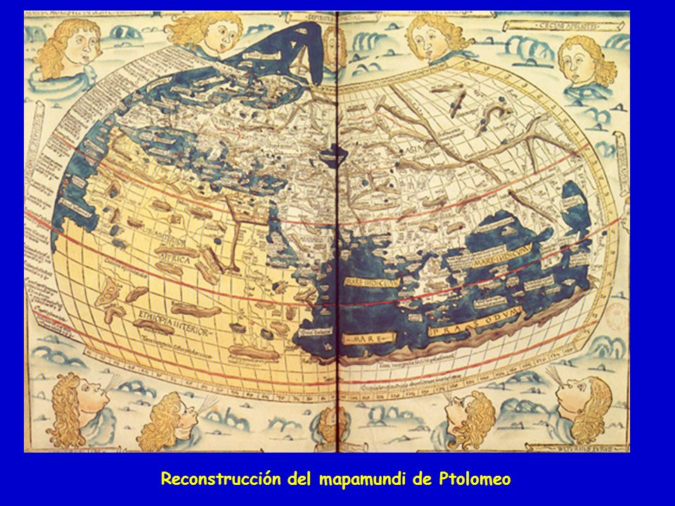 Reconstrucción del mapamundi de Ptolomeo
