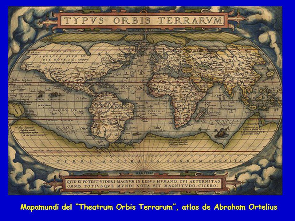 Mapamundi del Theatrum Orbis Terrarum , atlas de Abraham Ortelius