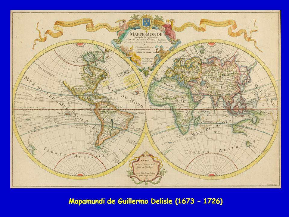 Mapamundi de Guillermo Delisle (1673 – 1726)