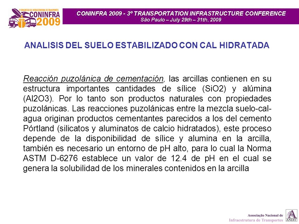 ANALISIS DEL SUELO ESTABILIZADO CON CAL HIDRATADA