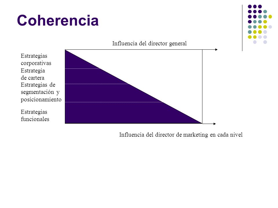 Coherencia Influencia del director general Estrategias corporativas