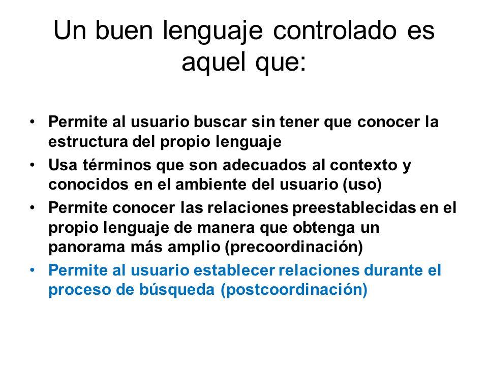 Un buen lenguaje controlado es aquel que: