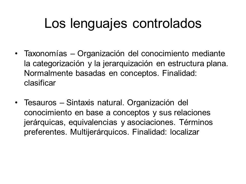 Los lenguajes controlados