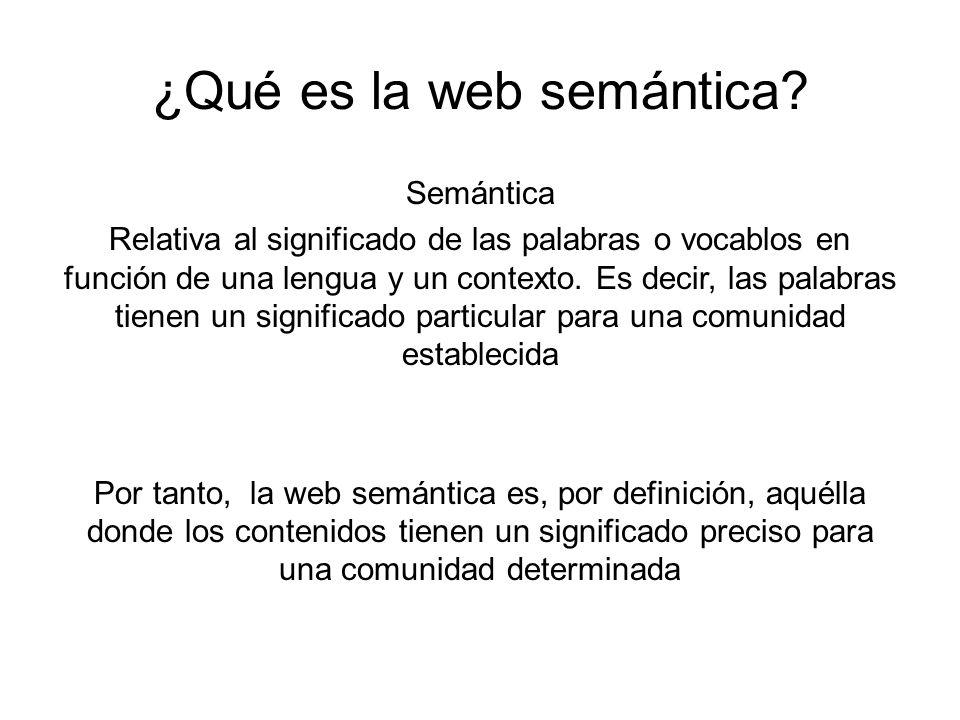 ¿Qué es la web semántica