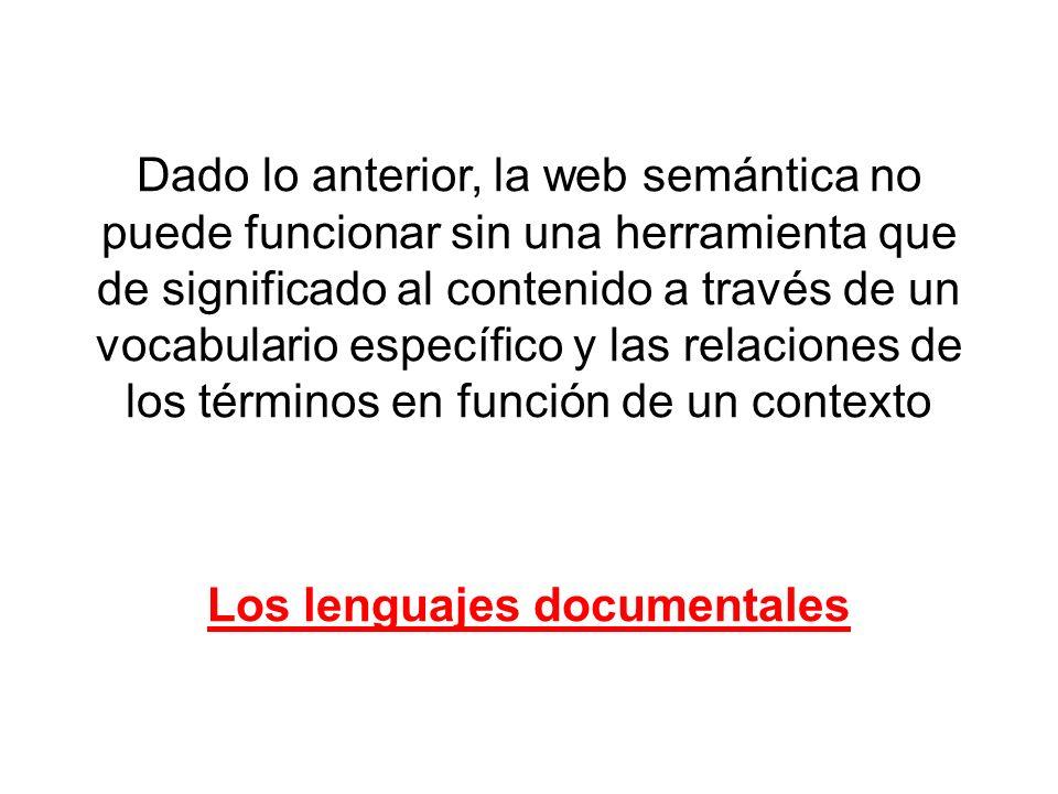 Los lenguajes documentales