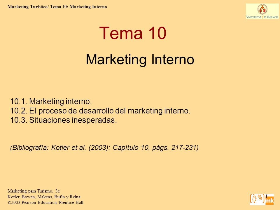 Tema 10 Marketing Interno 10.1. Marketing interno.