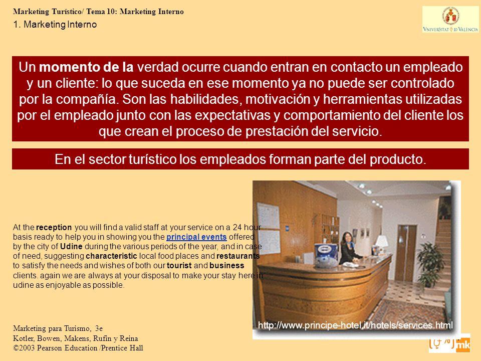 En el sector turístico los empleados forman parte del producto.