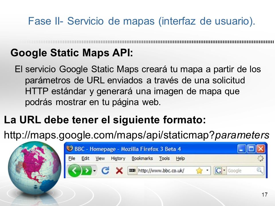 Fase II- Servicio de mapas (interfaz de usuario).