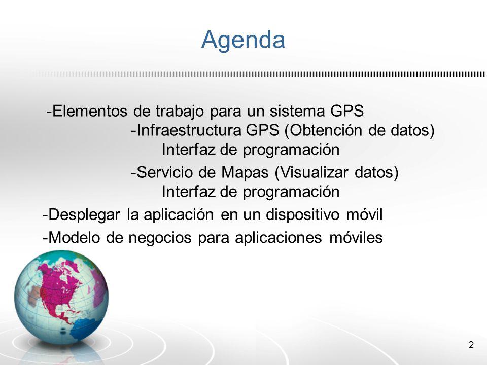 Agenda -Elementos de trabajo para un sistema GPS