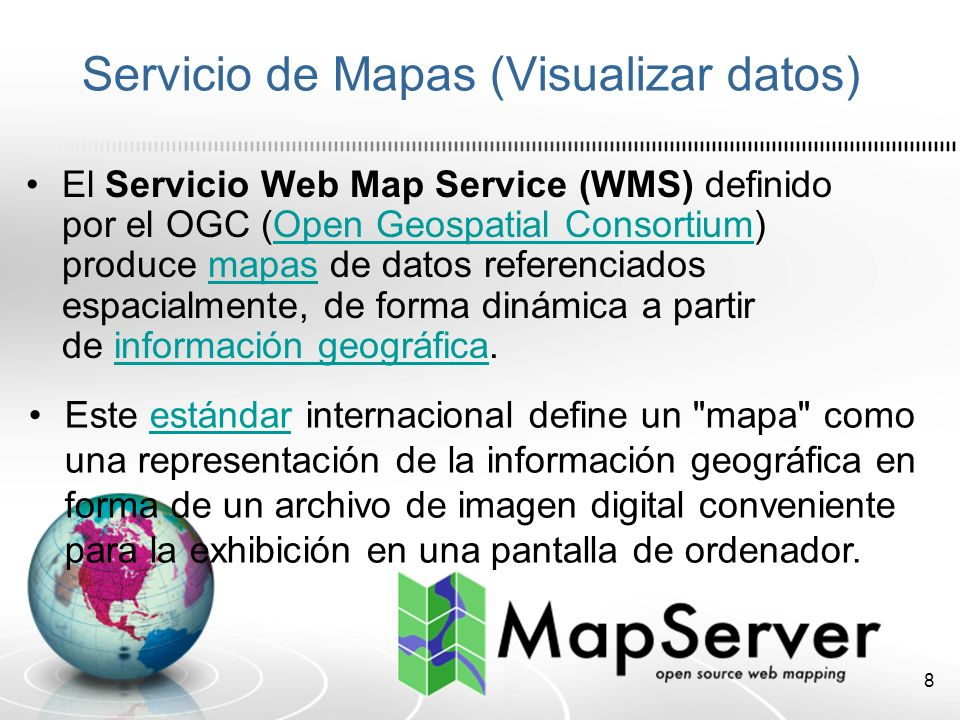 Servicio de Mapas (Visualizar datos)