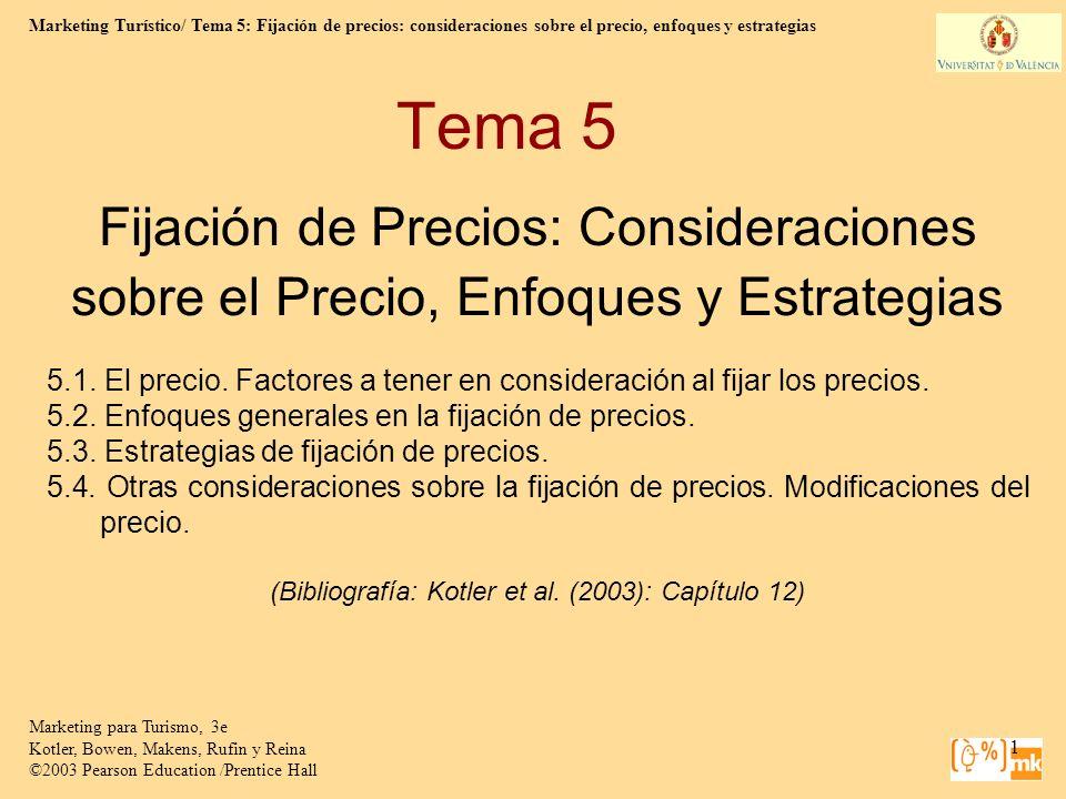 (Bibliografía: Kotler et al. (2003): Capítulo 12)