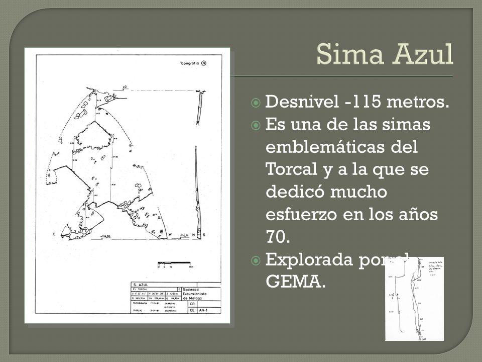 Sima Azul Desnivel -115 metros.