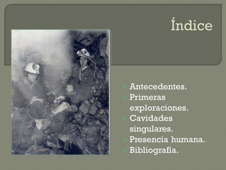 Índice Antecedentes. Primeras exploraciones. Cavidades singulares.