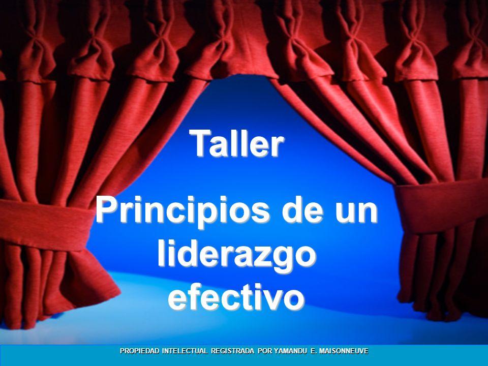 Principios de un liderazgo efectivo