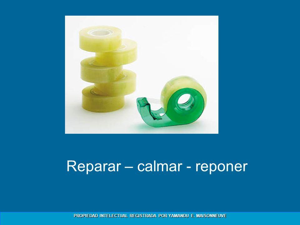 Reparar – calmar - reponer