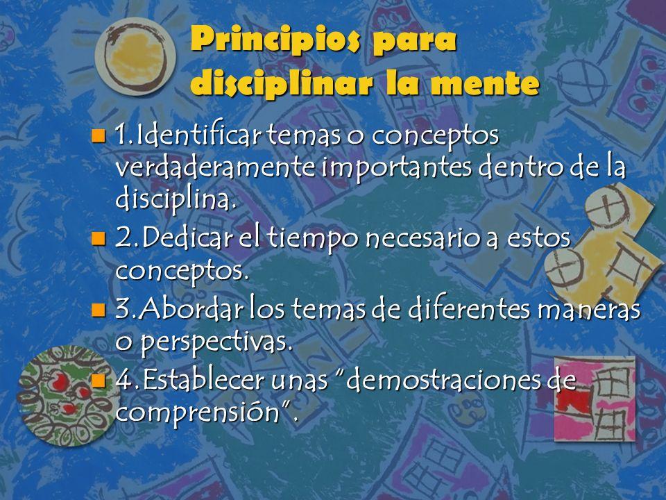 Principios para disciplinar la mente