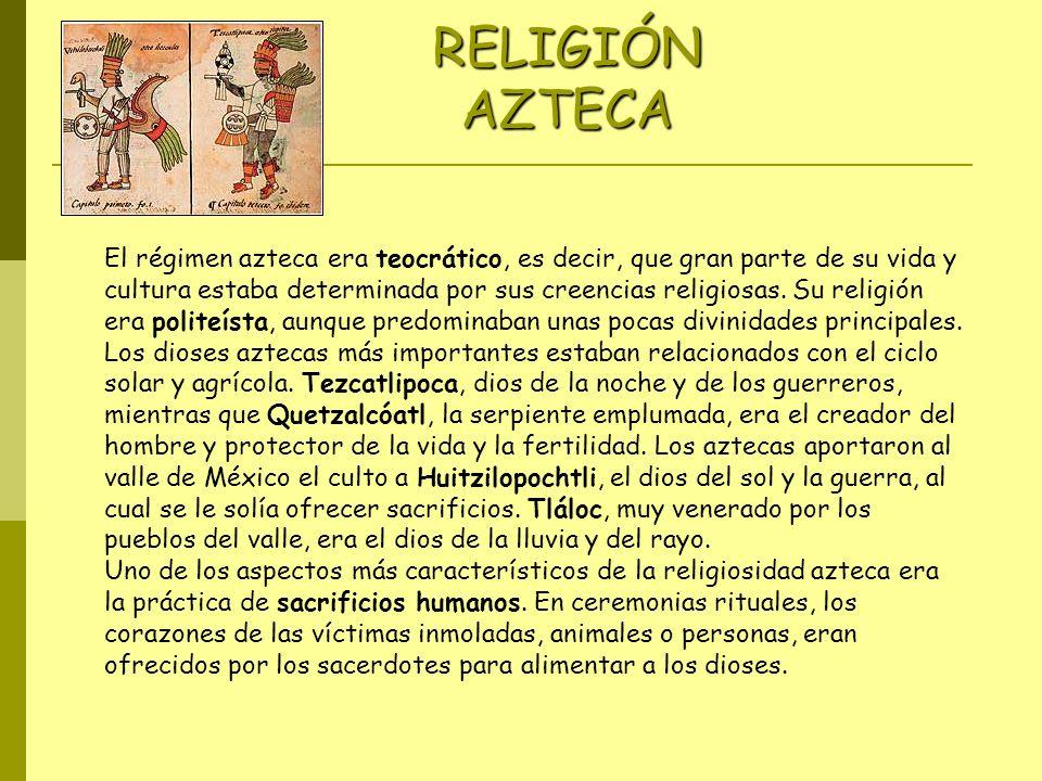 RELIGIÓN AZTECA Imágenes