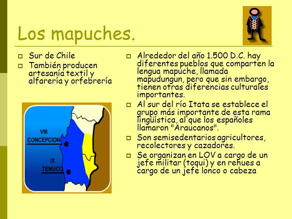Los mapuches. Sur de Chile