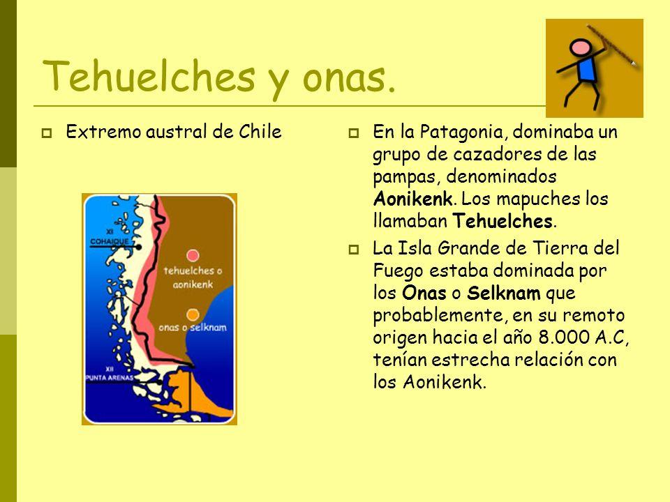Tehuelches y onas. Extremo austral de Chile