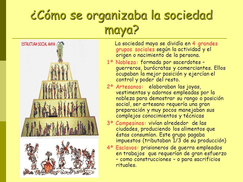 ¿Cómo se organizaba la sociedad maya