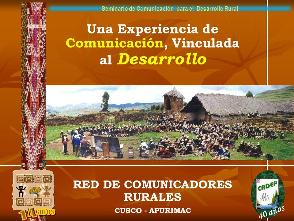 Seminario de Comunicación para el Desarrollo Rural