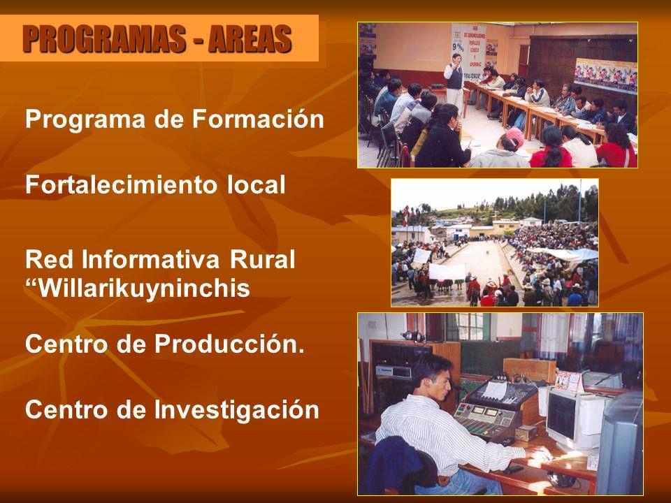 PROGRAMAS - AREAS Programa de Formación Fortalecimiento local