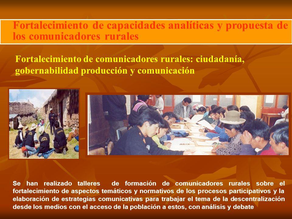 Fortalecimiento de capacidades analíticas y propuesta de