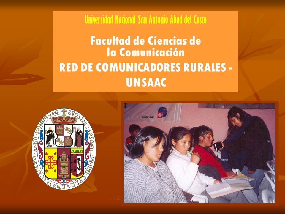 Facultad de Ciencias de RED DE COMUNICADORES RURALES - UNSAAC