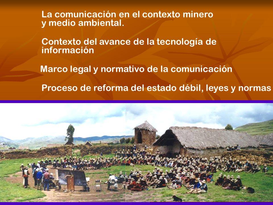 La comunicación en el contexto minero