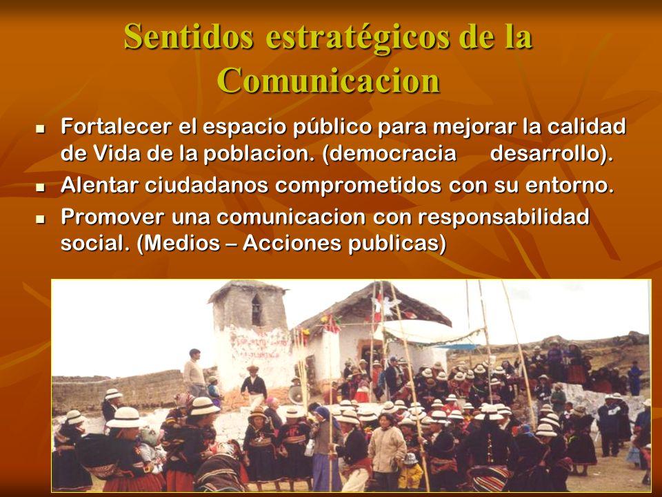 Sentidos estratégicos de la Comunicacion