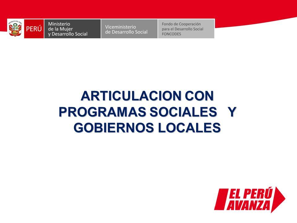 ARTICULACION CON PROGRAMAS SOCIALES Y