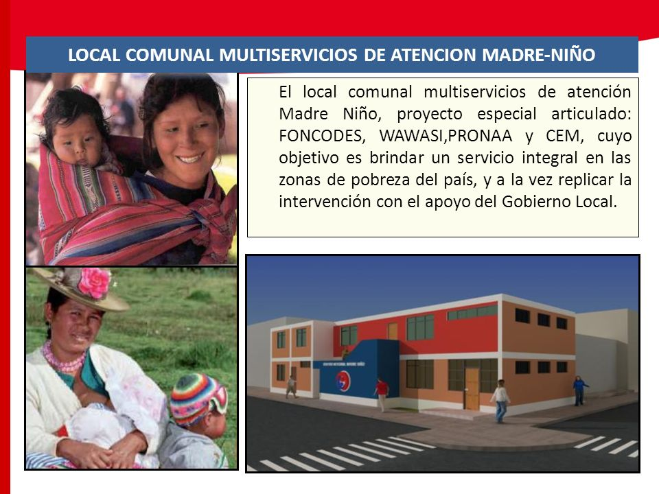 LOCAL COMUNAL MULTISERVICIOS DE ATENCION MADRE-NIÑO