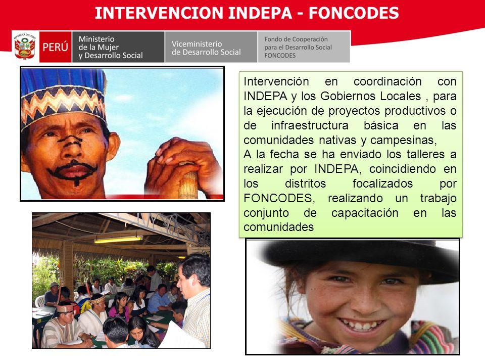 INTERVENCION INDEPA - FONCODES