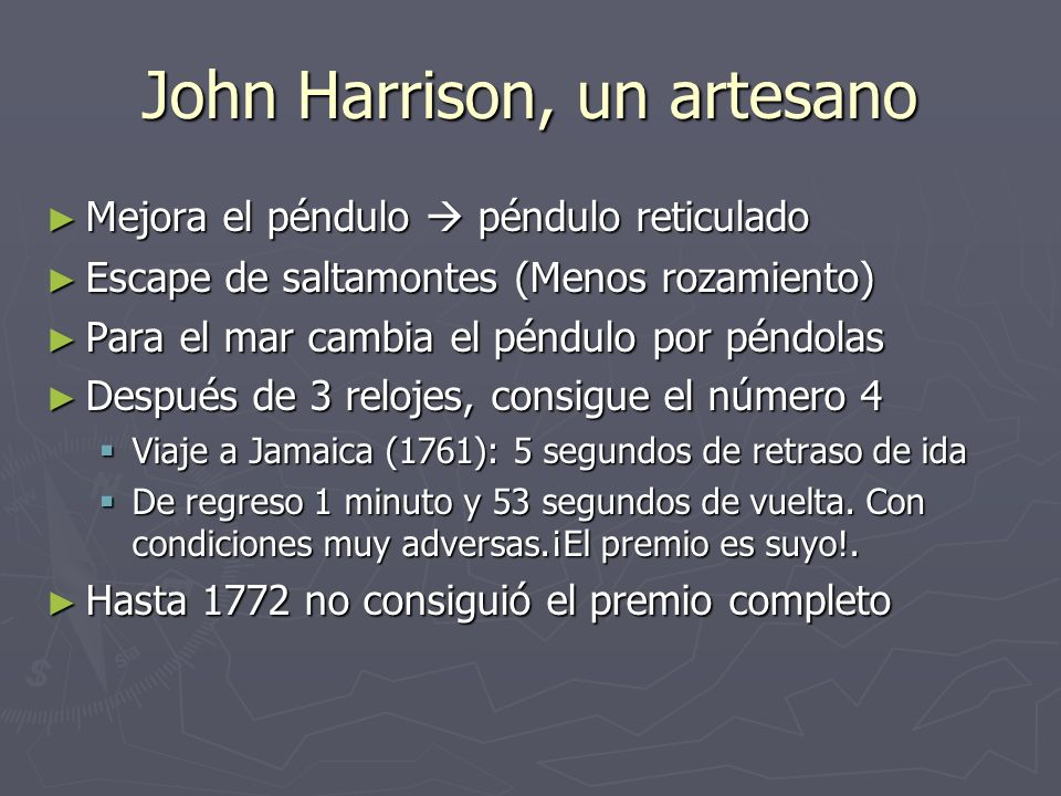 John Harrison, un artesano