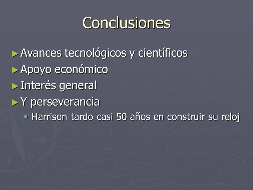 Conclusiones Avances tecnológicos y científicos Apoyo económico