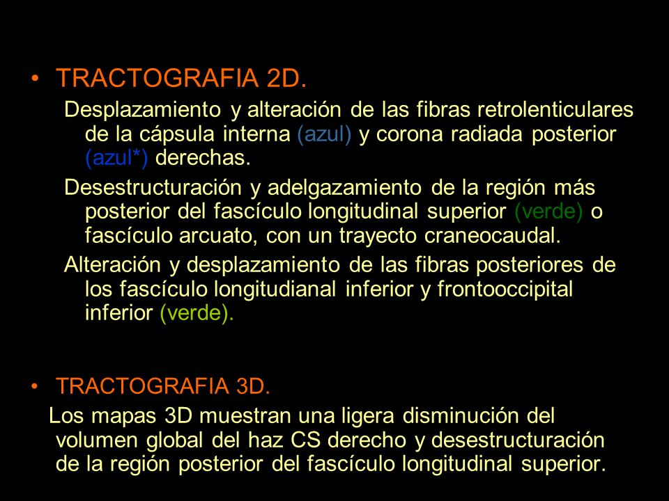 TRACTOGRAFIA 2D.