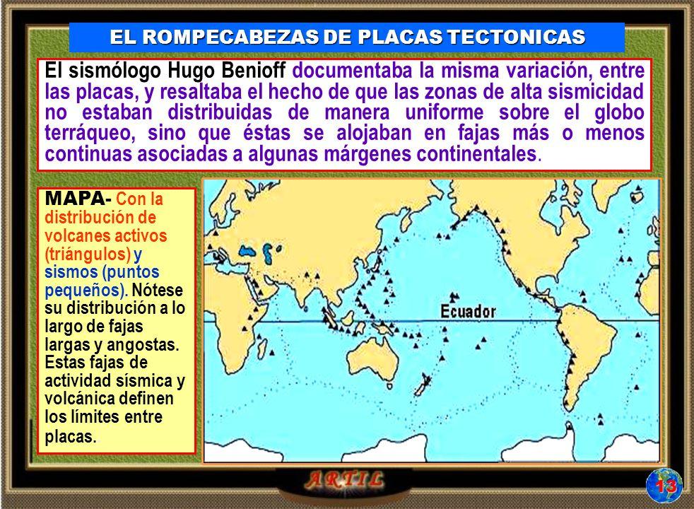 EL ROMPECABEZAS DE PLACAS TECTONICAS