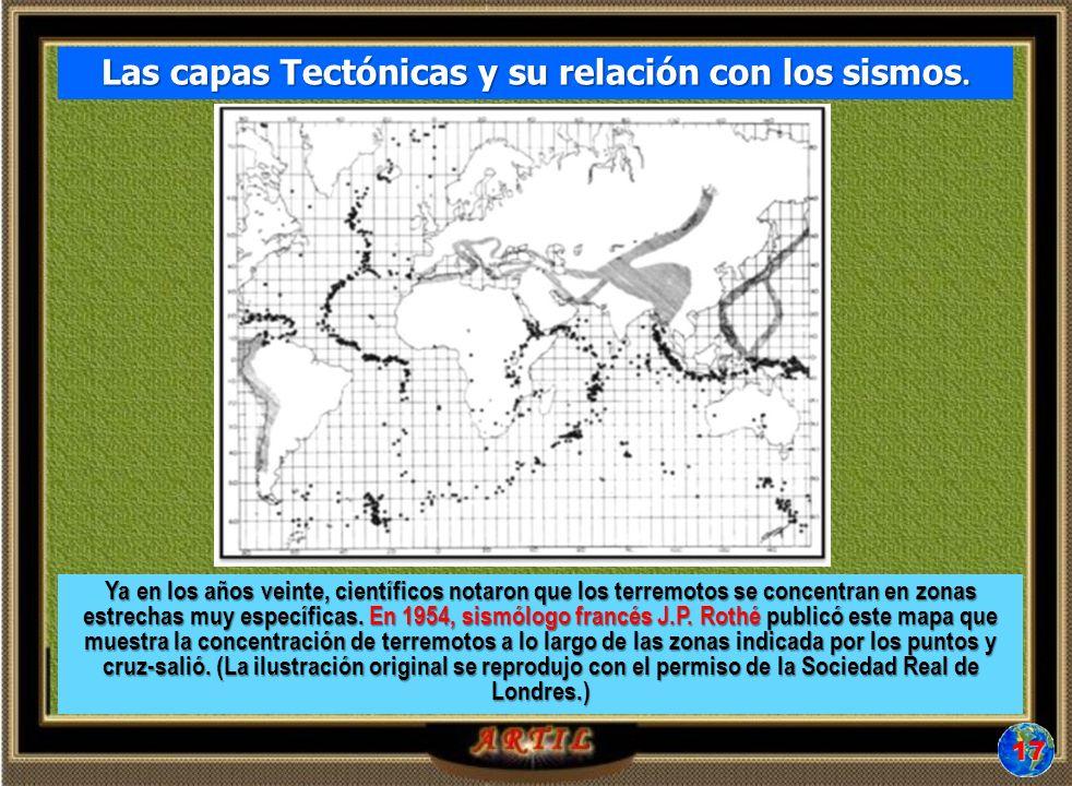 Las capas Tectónicas y su relación con los sismos.