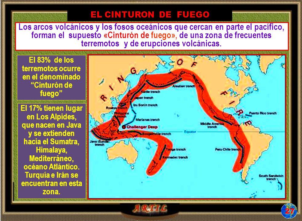 El 83% de los terremotos ocurre en el denominado Cinturón de fuego